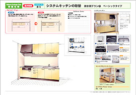 菊池市のリフォーム専門店 昭和技建のキッチンリフォームプラン No.01